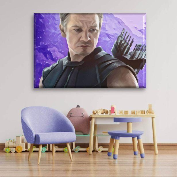Cuadro Canva Decorativo Hawkeye 60X40 cm