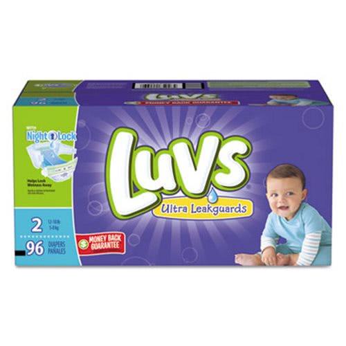 Luvs Diapers w/Leakguard Size 2: 12 to 18 lbs 96/Carton ...