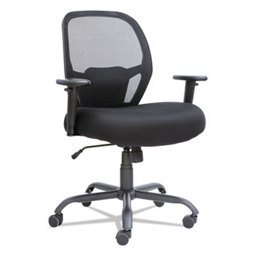 tall swivel chair leather seat covers alera merix450 series mesh big mid back tilt black alemx4517