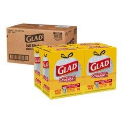 Glad Kitchen Bags Cabinet Alternatives 78526 13 Gallon Drawstring Trash 4 Boxes Clo78526ct Tall