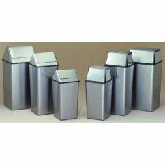 Stainless Steel Kitchen Trash Can Henckels Shears Witt 21 Gallon Wastewatchers Swingtop Witt1411htss Cans