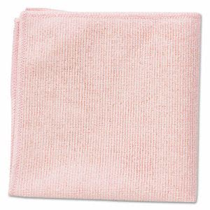 Rubbermaid 1820581 Microfiber Cleaning Cloths Red RCP1820581