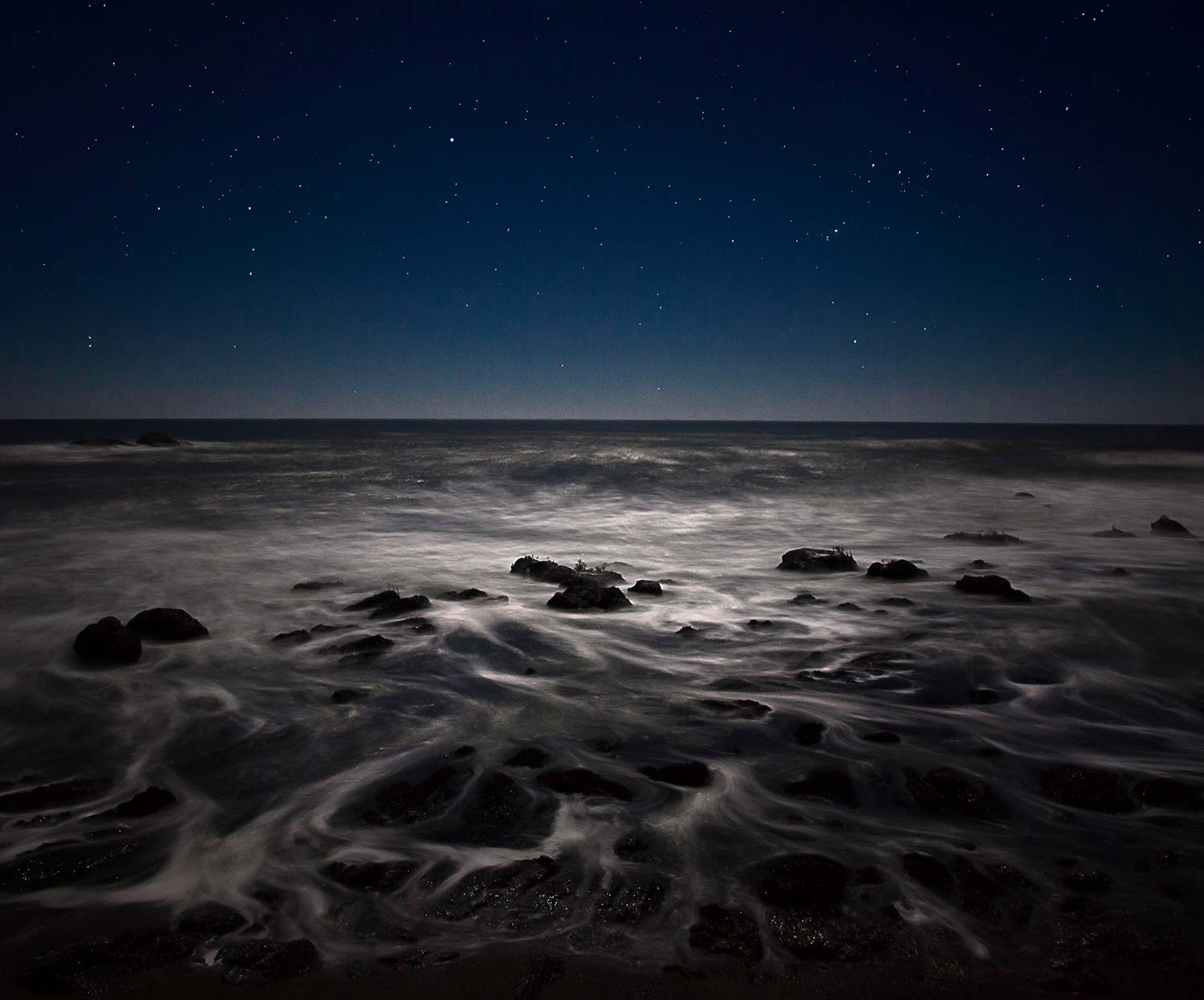 Ocean Night Photograph
