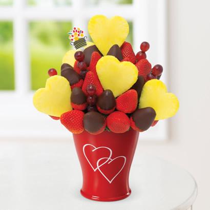 Blooming Hearts Dipped Strawberries Edible Arrangements