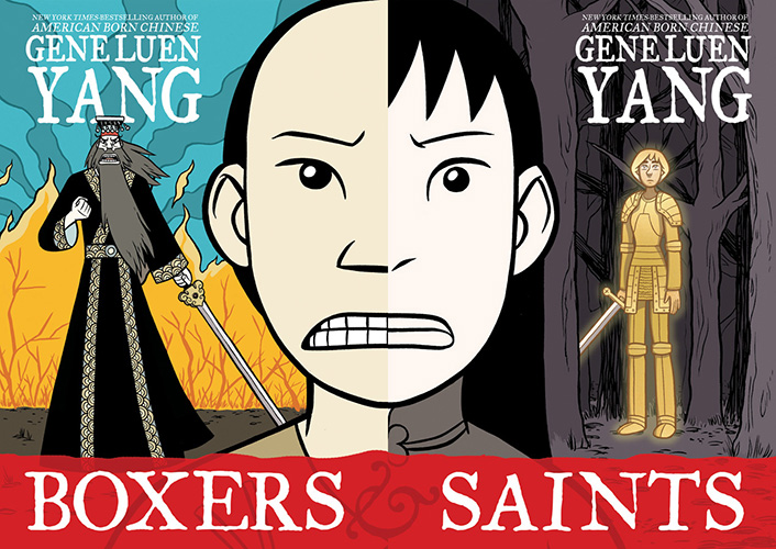 The cover from Boxers & Saints, by Gene Luen Yang