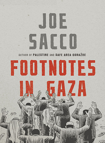 The cover of Footnotes in Gaza by Joe Sacco.