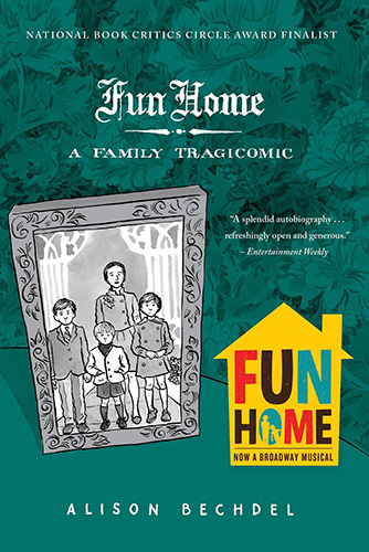 The cover from Fun Home by Alison Bechdel