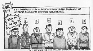 The traitor test from Pyongyang, by Guy Delisle.