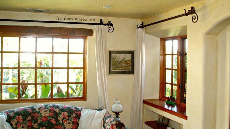 Iron Curtain Rods and Drapery Hardware  Paso Robles Ironworks