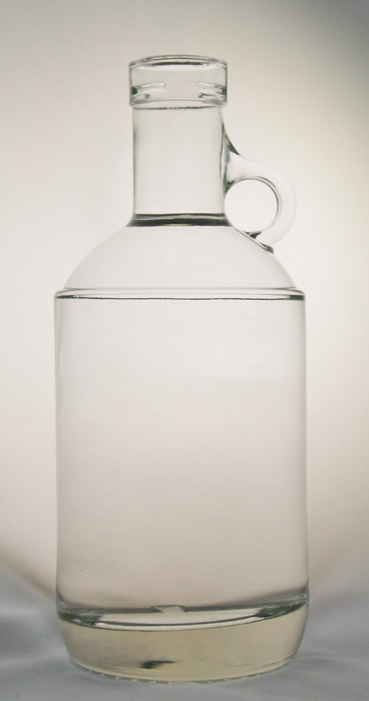 375ml Moonshine Jug Round Bar Top  Liquor bottle  Wm R Hill  Company