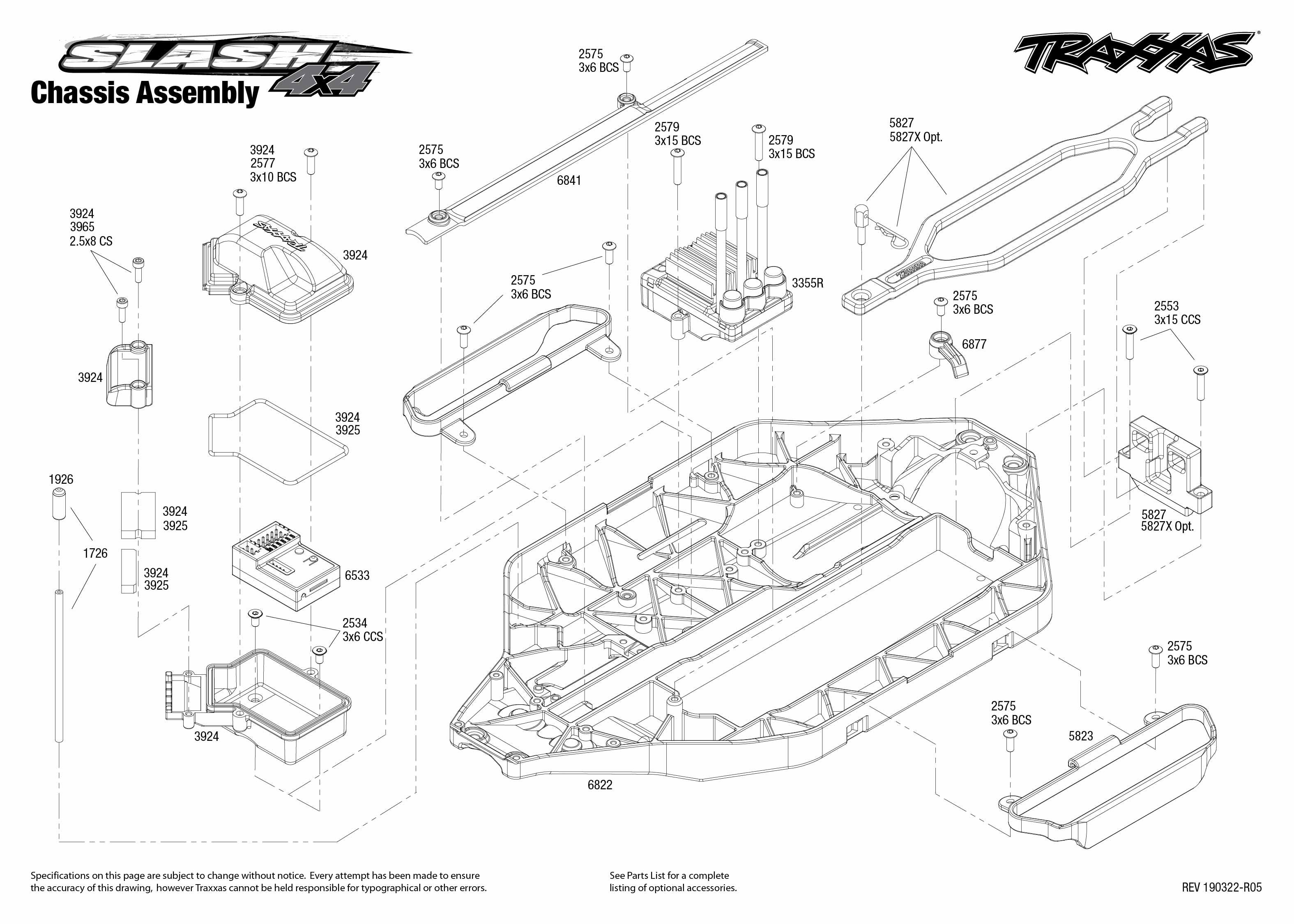 Traxxas Slash 4X4 VXL 1/10 4WD Brushless SCT, Vision
