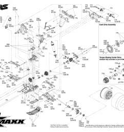 x maxx rtr 8s capable brushless 4wd 1 5 monster truck rear assembly [ 3150 x 2250 Pixel ]