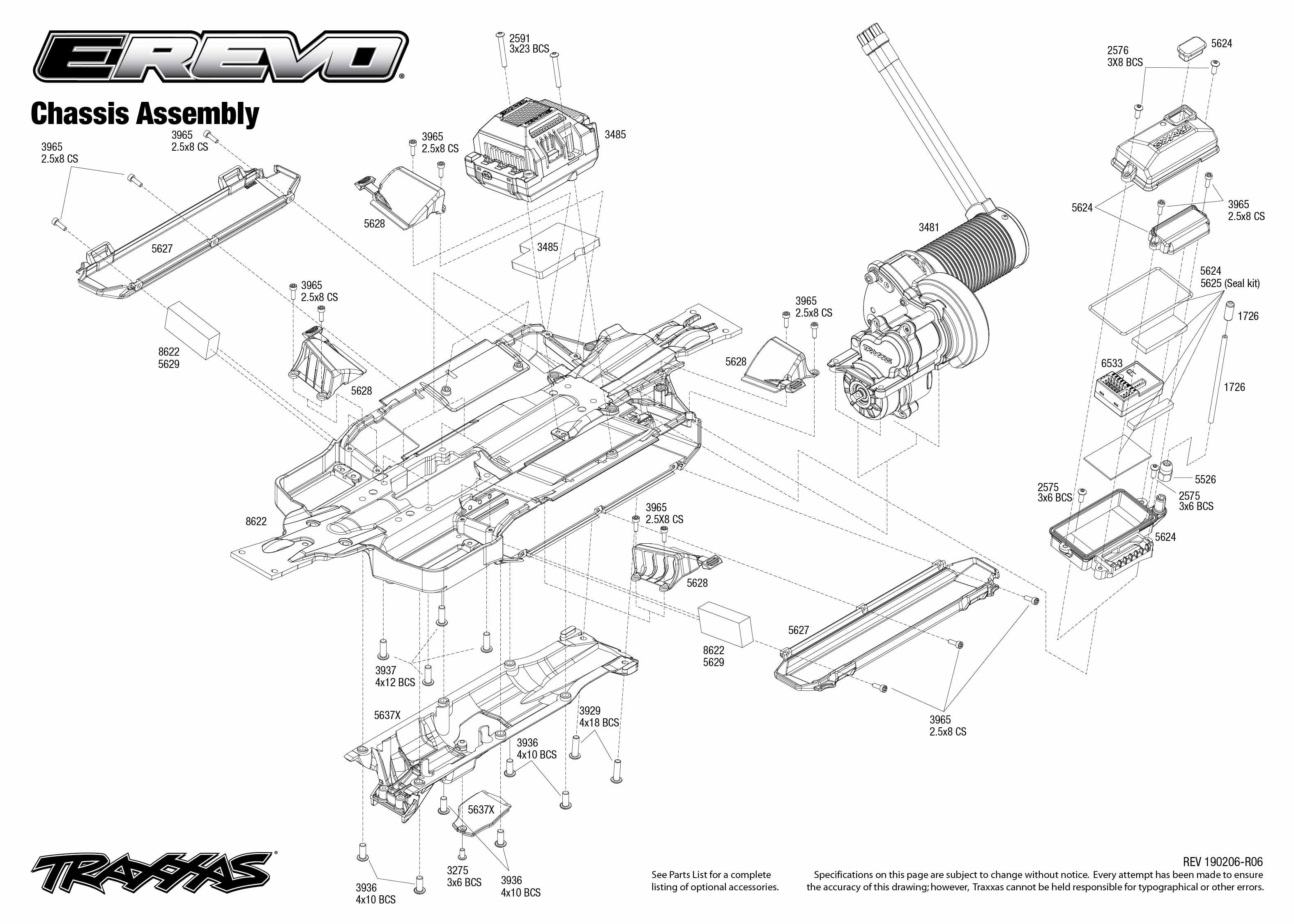 Traxxas E-Revo VXL Brushless 1/10 4WD Monster Truck with
