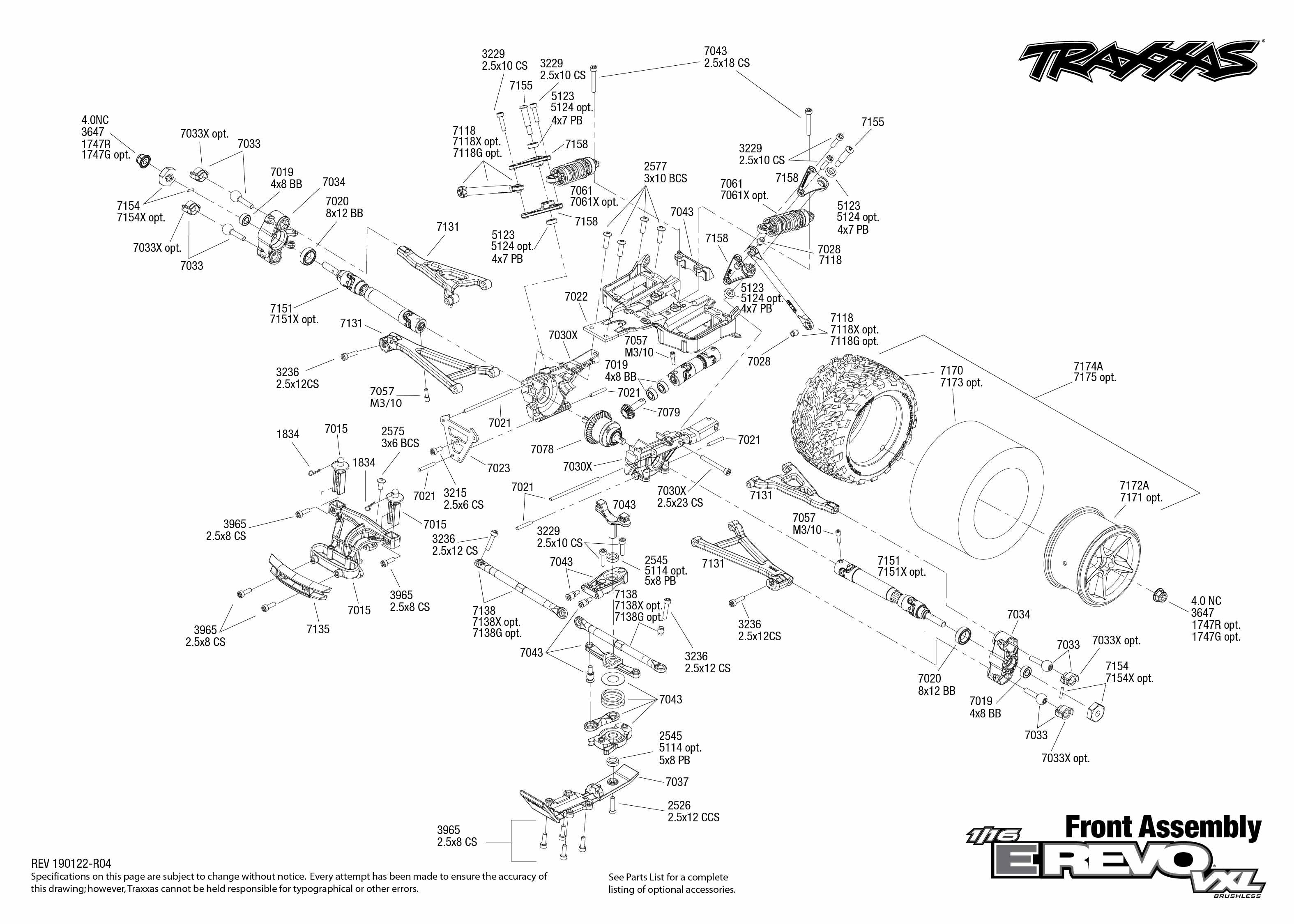 Traxxas E-Revo VXL RTR Brushless Electric 4WD 1/16 Monster
