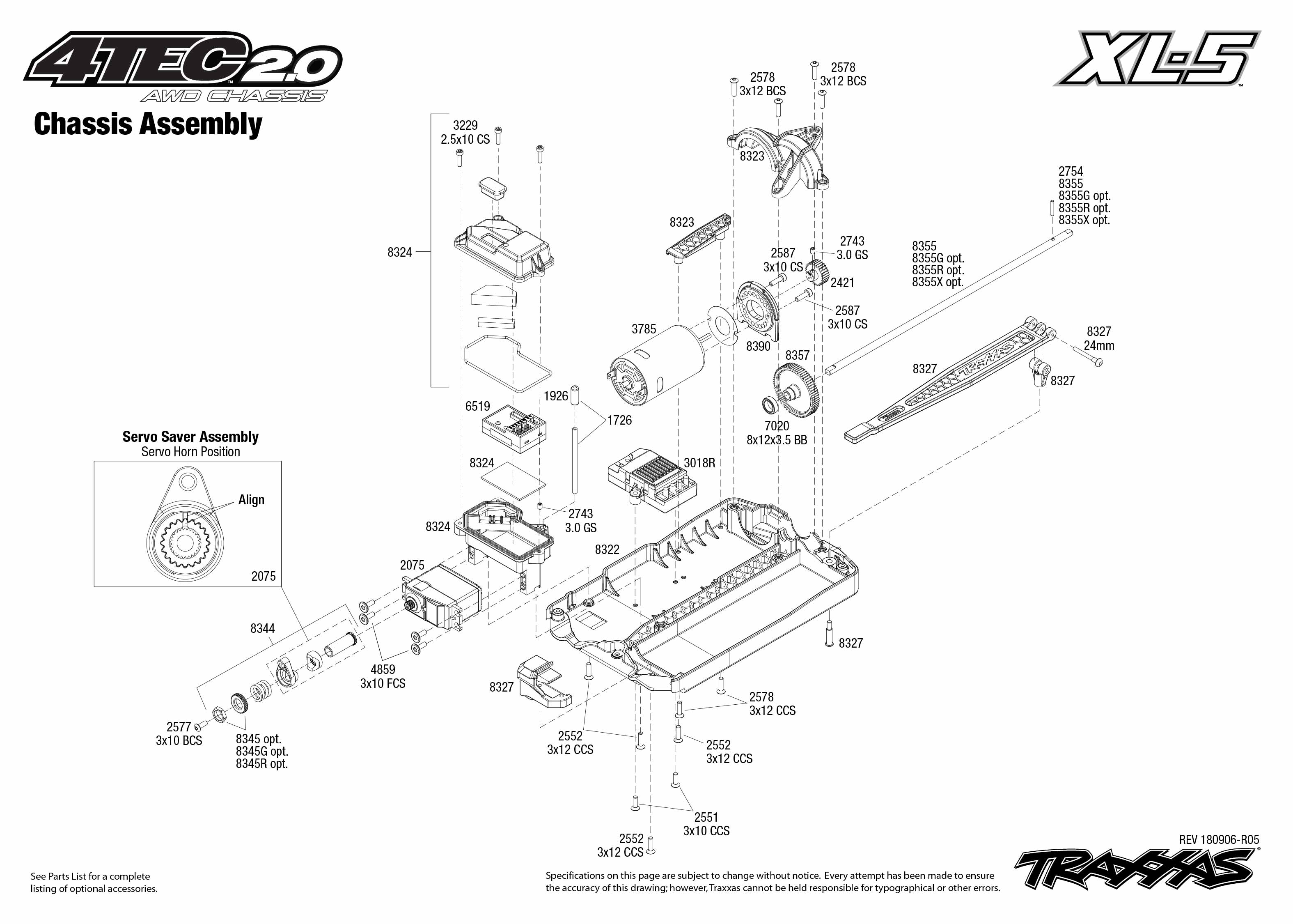 Traxxas 4-Tec 2.0 1/10 Scale AWD Chassis with TQ 2.4GHz