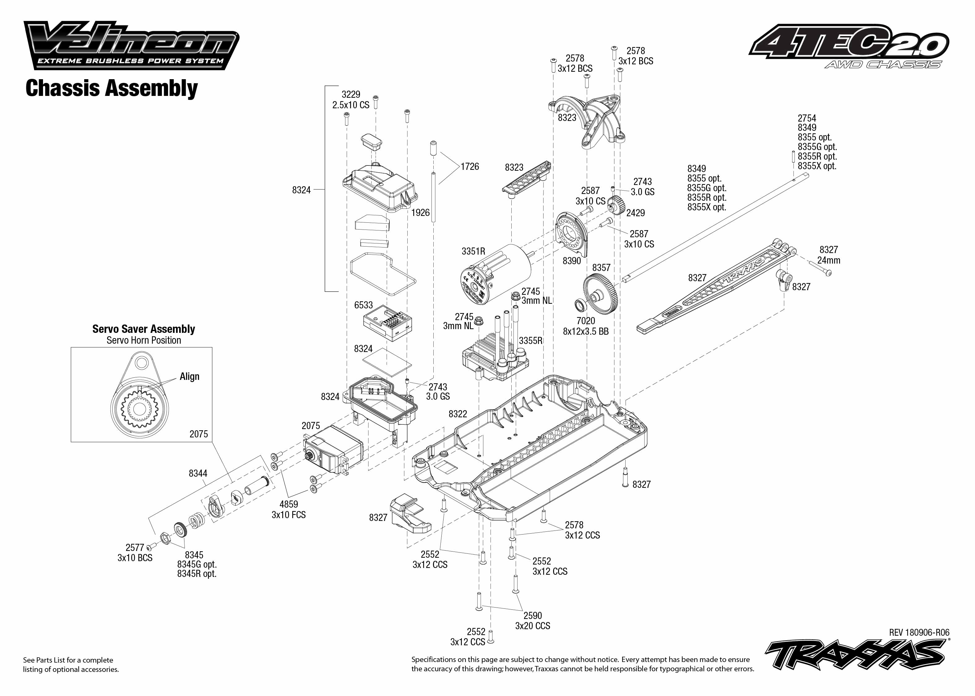 Traxxas 4-Tec 2.0 VXL 1/10 Scale AWD Chassis with