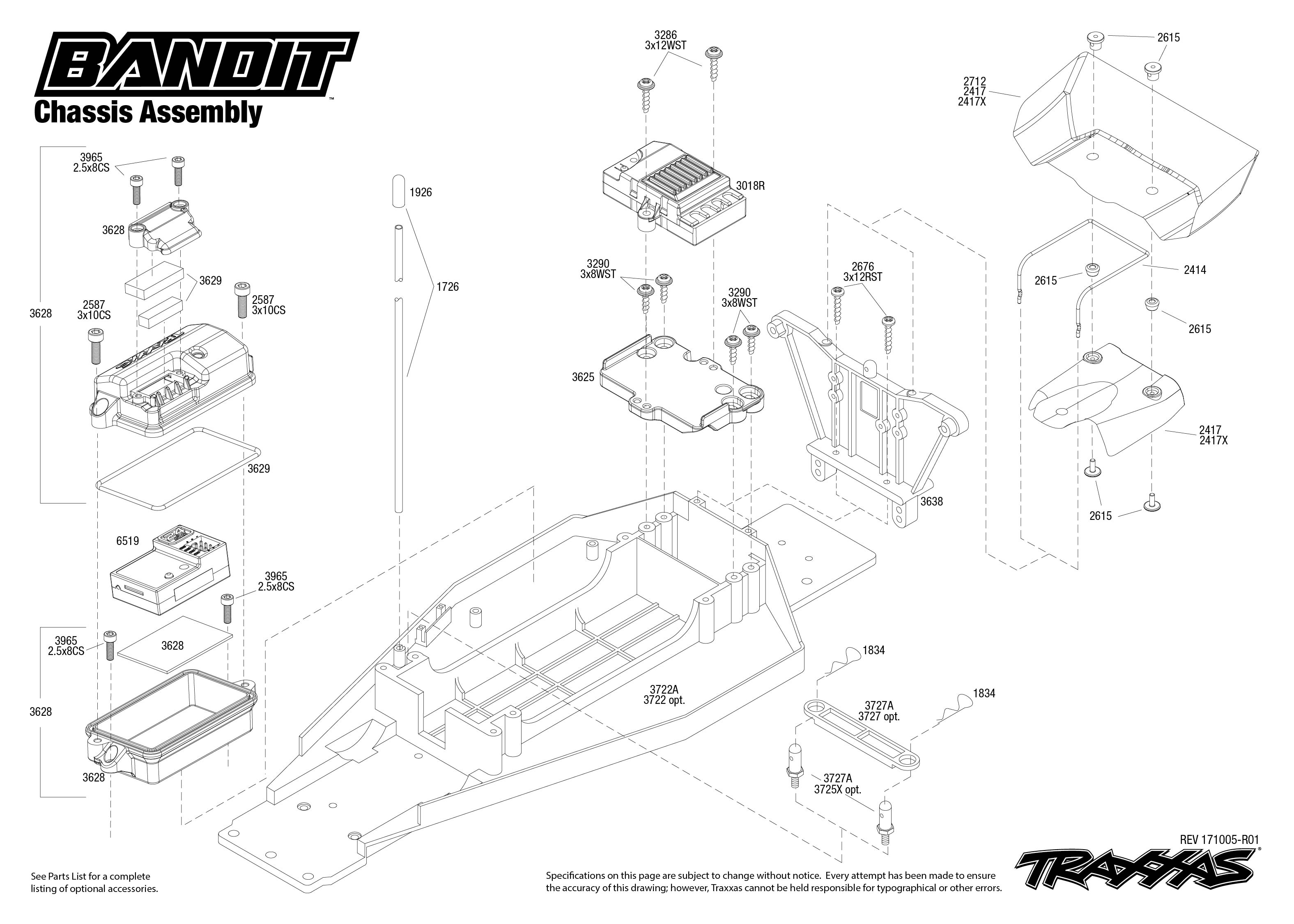 Traxxas Bandit 1/10 Scale RTR Off-Road Buggy with TQ 2