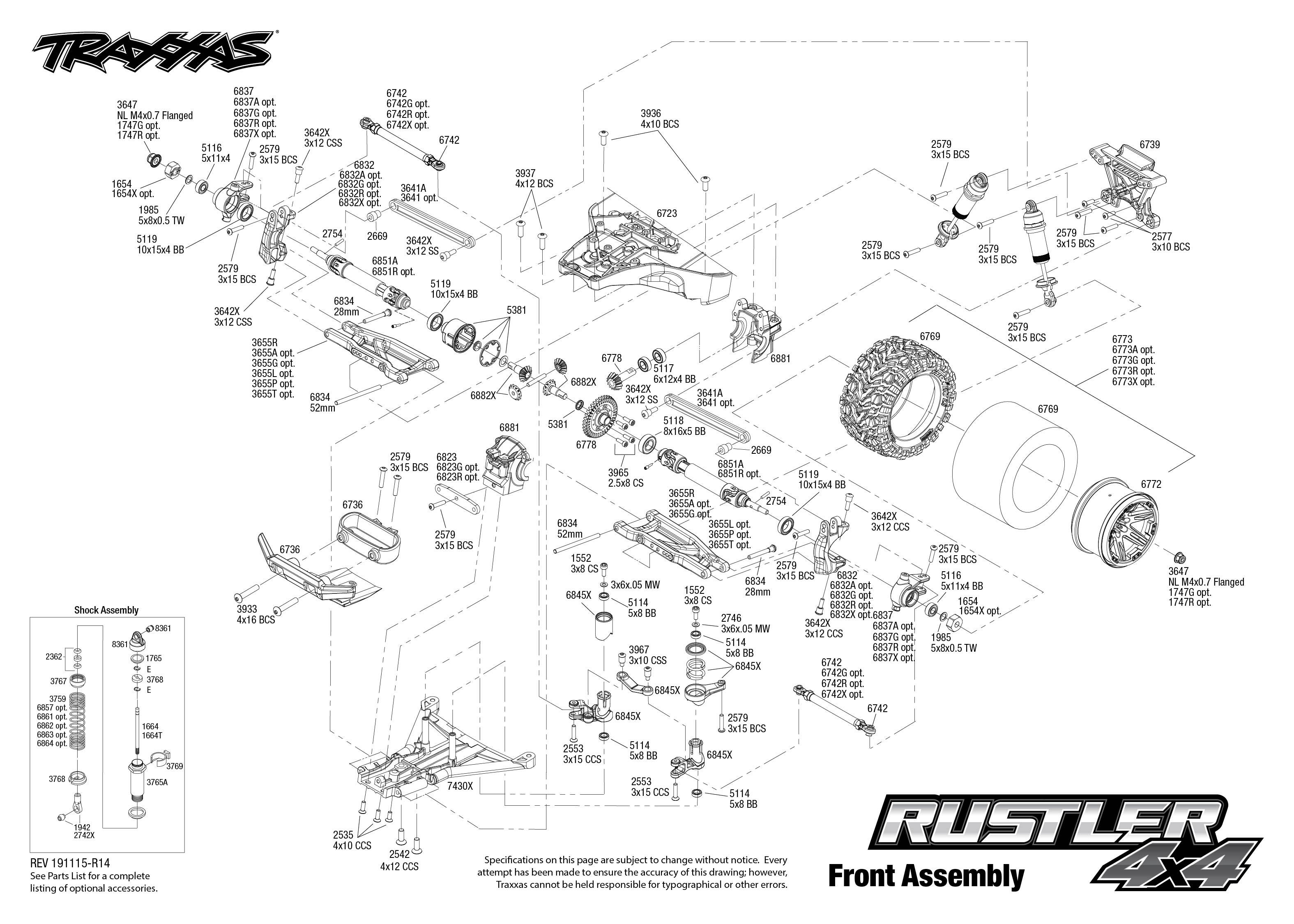 Traxxas Rustler 4X4 1/10 Scale 4WD Brushed Stadium Truck