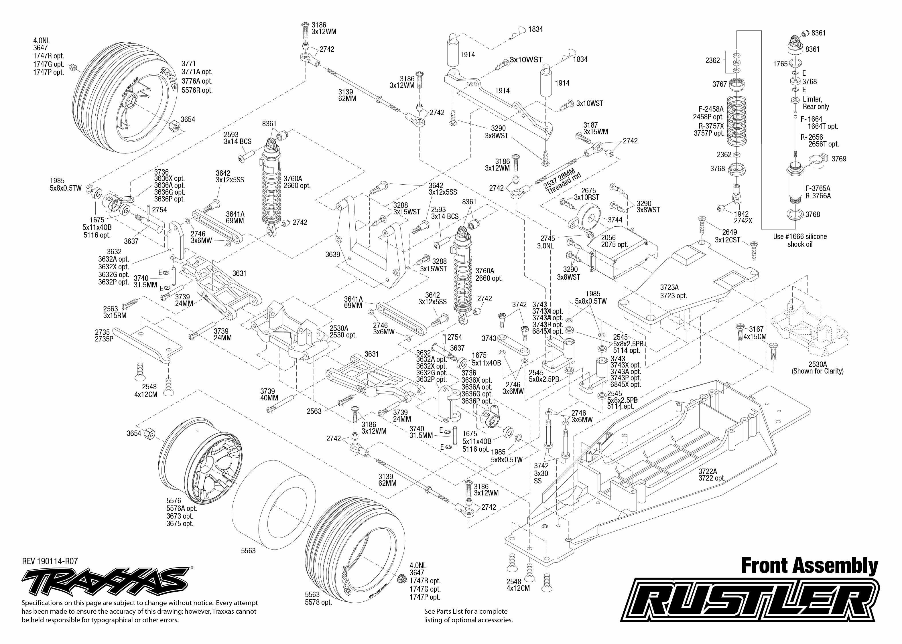 Traxxas RUSTLER RTR 1/10 2WD Stadium Truck (XL-5 ESC
