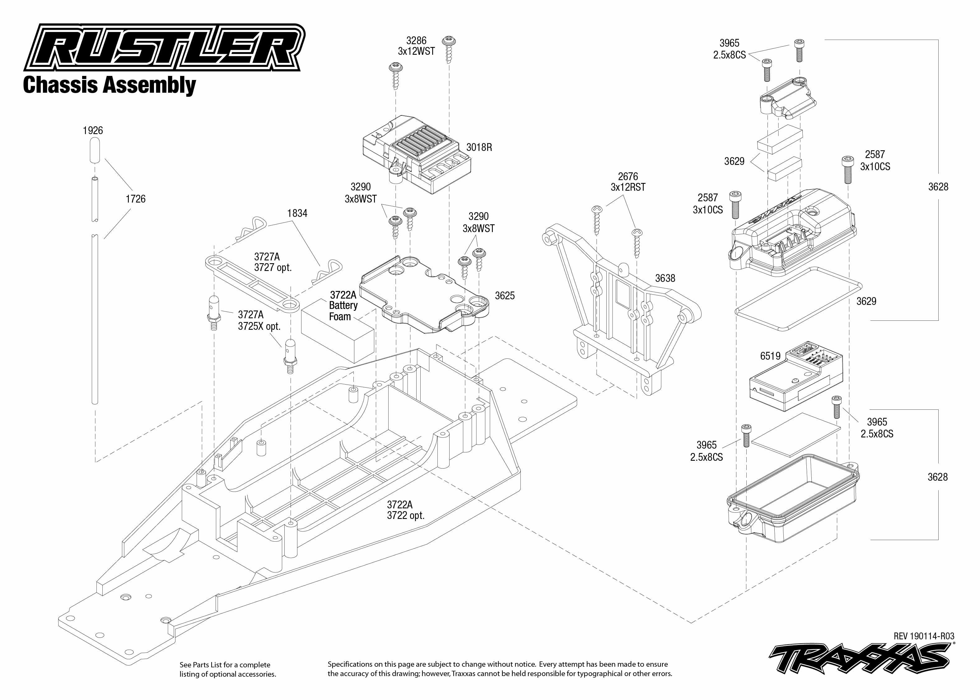 Traxxas Rustler 1/10 Scale Brushed Stadium Truck with TQ 2