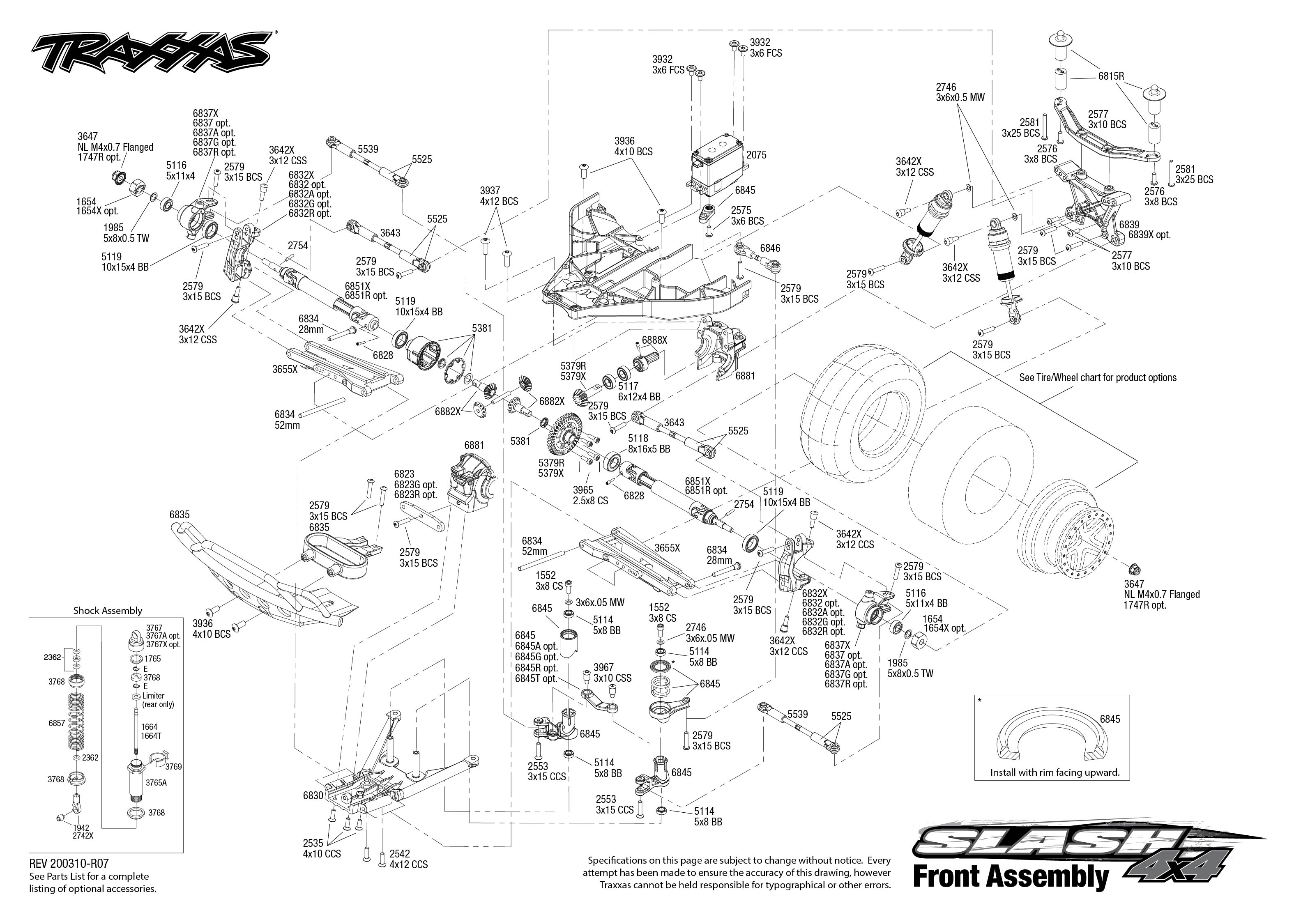 Traxxas 1/10 Slash 4WD Brushless RTR Short Course Truck