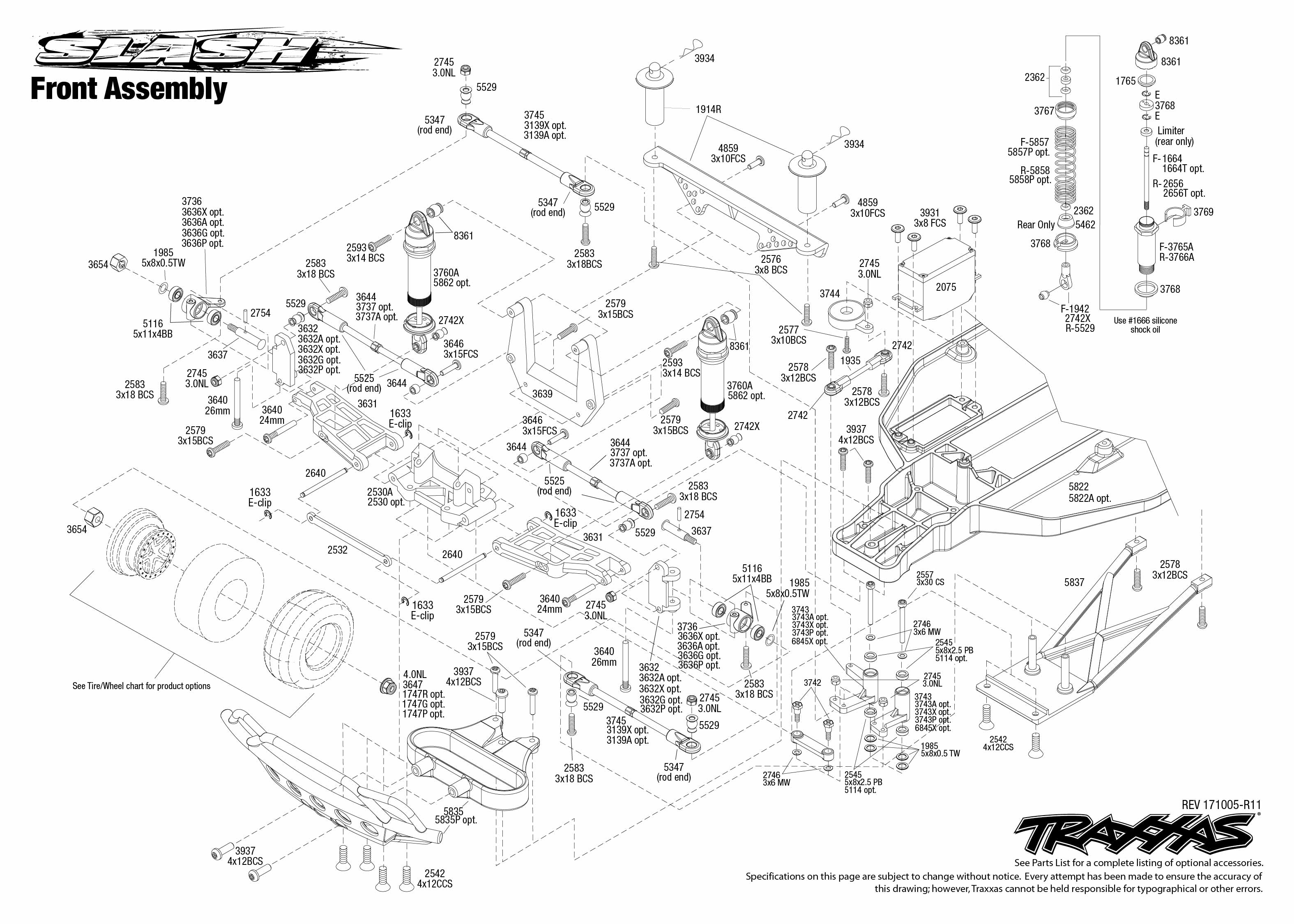 Traxxas Slash 1/10-Scale 2WD waterproof SCT with TQ 2.4GHz