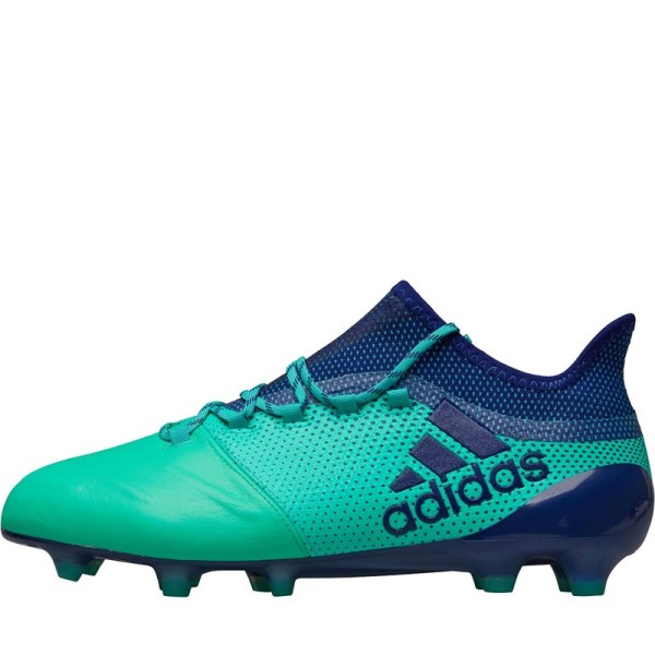 Adidas X 17.1 Leather Fg Football Boots Unity Ink -res Green