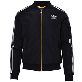 adidas Originals Womens Bomber Jacket Black/White