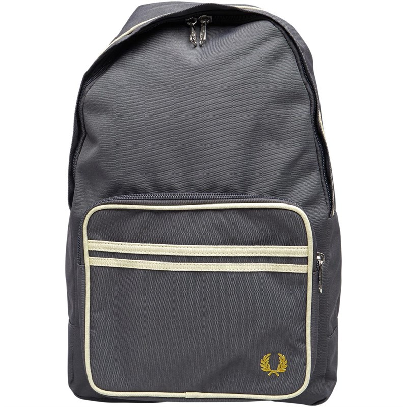 Buy Fred Perry Mens Twin Tipped Backpack Mid Grey