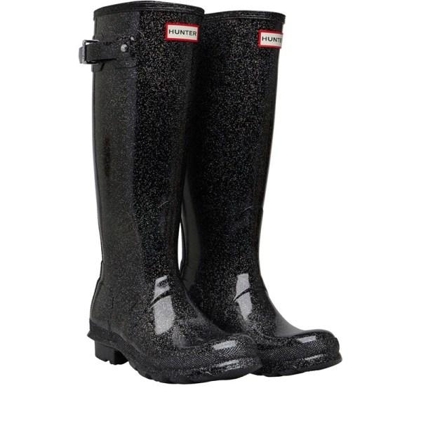 Hunter Original Womens Starcloud Tall Wellington Boots Black Multi