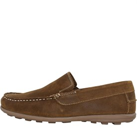 Mens Tan Leather Slip On Shoes