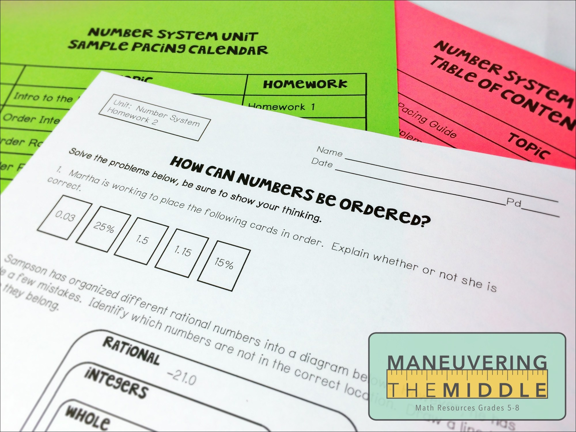 hight resolution of Resources for The Number System - Maneuvering the Middle