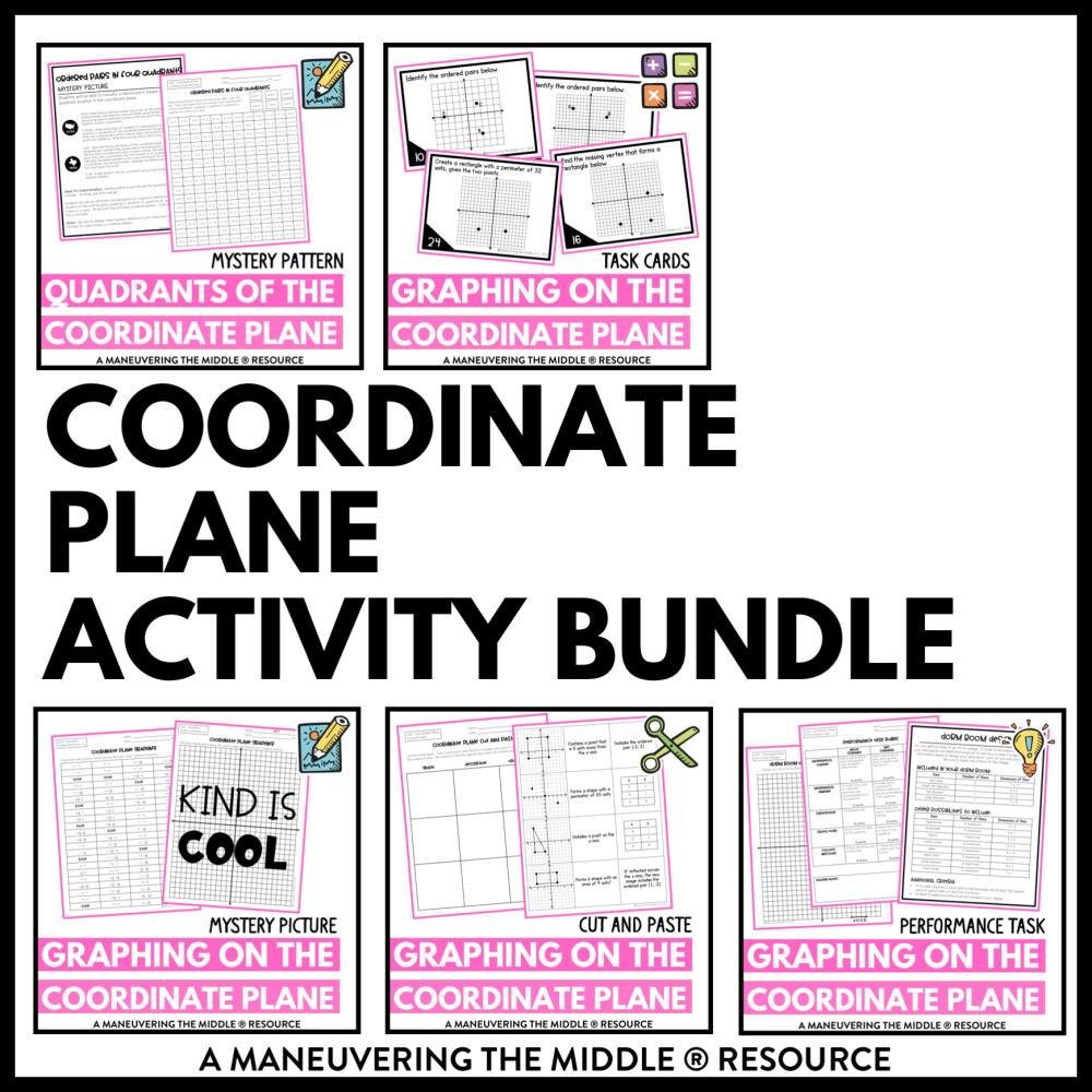 medium resolution of Coordinate Plane Activity Bundle 6th Grade - Maneuvering the Middle