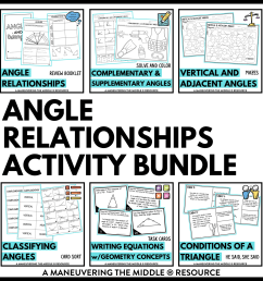 Angle Relationships Activity Bundle 7th Grade - Maneuvering the Middle [ 1738 x 1738 Pixel ]