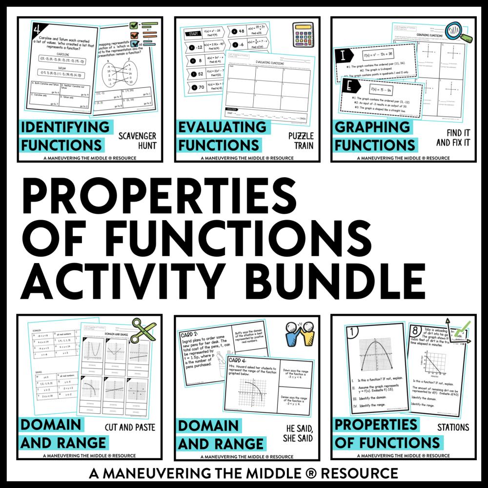 medium resolution of Properties of Functions Activity Bundle Algebra 1 TEKS - Maneuvering the  Middle