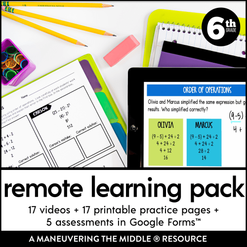 small resolution of 6th Grade Remote Learning Pack - Maneuvering the Middle