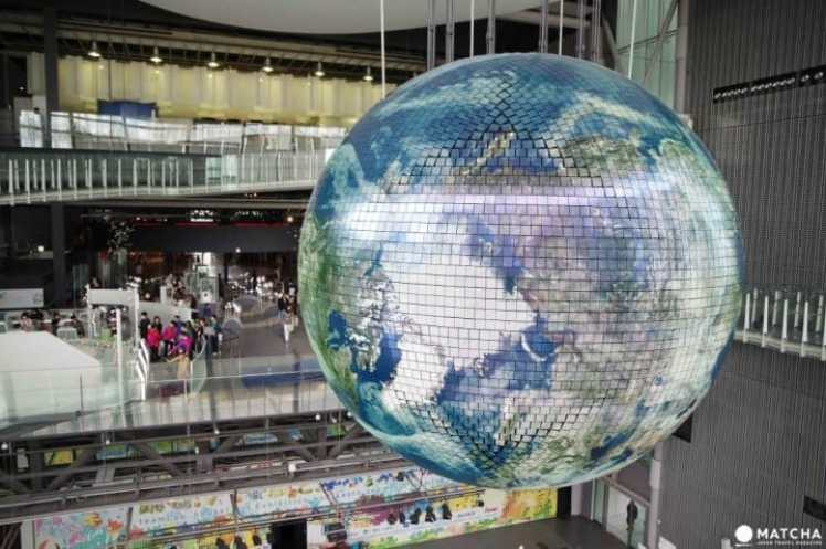 日本未来博物館の地球儀