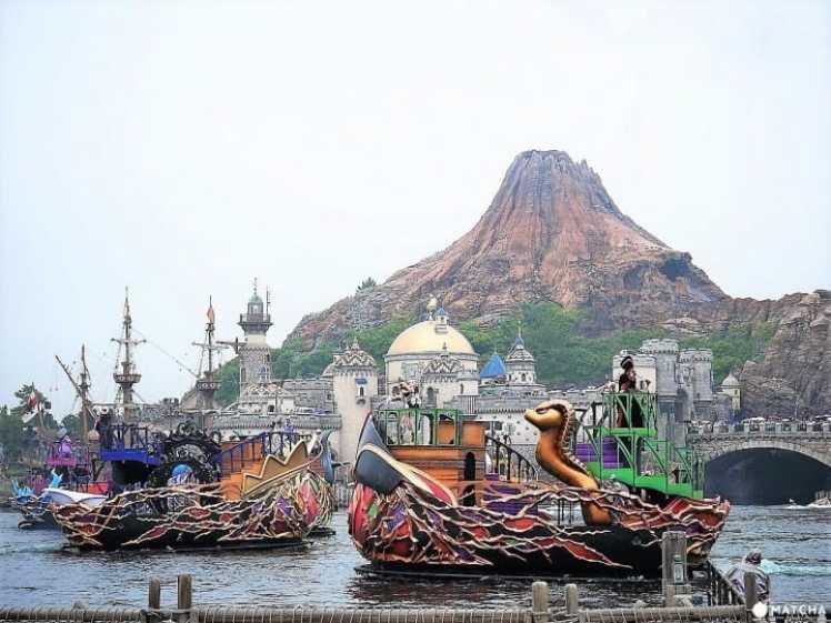 迪士尼海洋秀的船