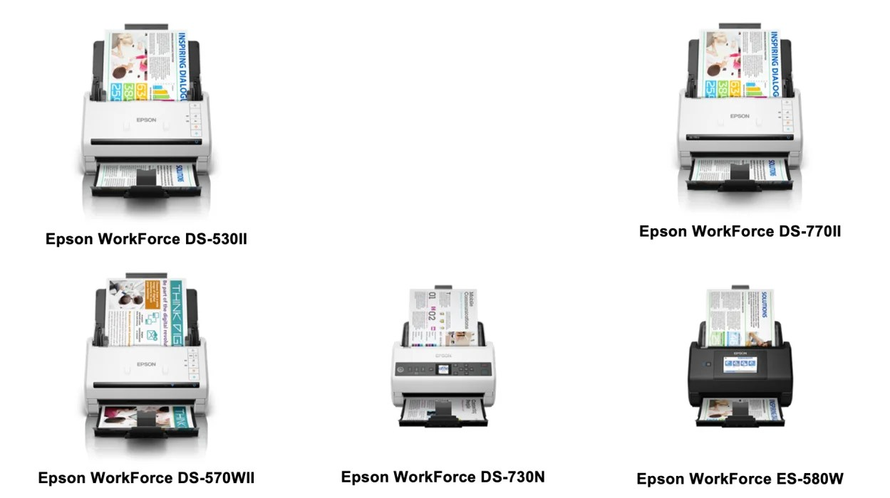 Epson's new WorkForce series business scanners: fastest