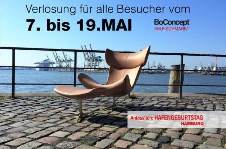 BoConcept am Fischmarkt und BoConcept am Gänsemarkt: Verlosung 7.-19.Mai zum Hafengeburtstag