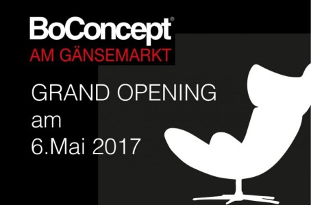 GRAND OPENING BoConcept am Gänsemarkt, Samstag, 06.05.2017, 10 bis 18 Uhr