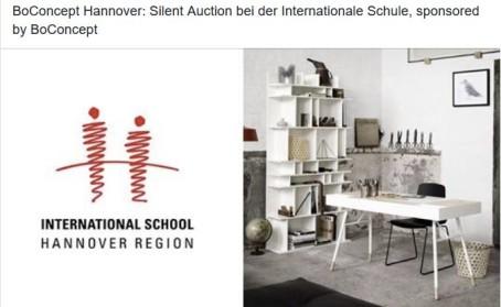 Silent Auction bei der Internationale Schule, sponsored by BoConcept