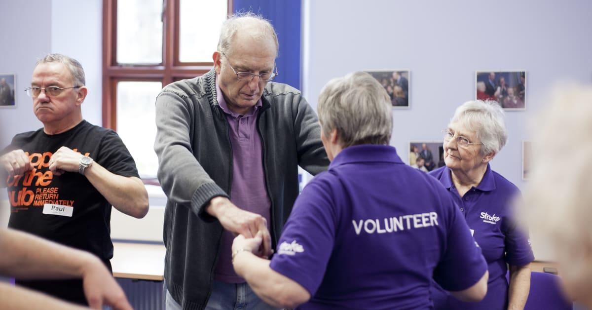 Stroke Association volunteer supporting stroke survivor