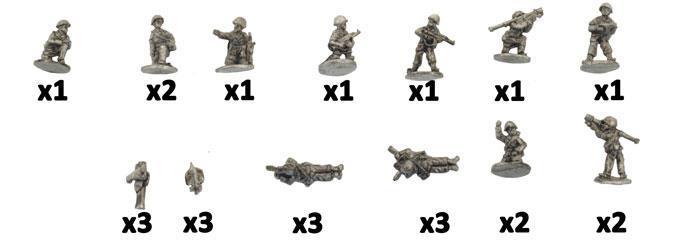 Battlefront Modern Mini 1/100 Iraqi Mech Company Weapons