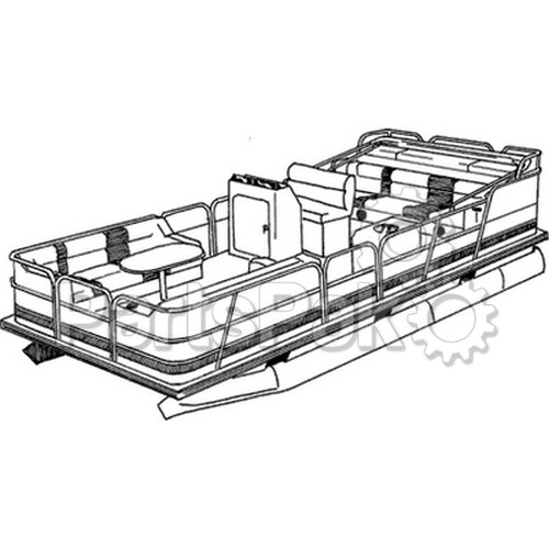 Carver Covers 77521P; Boat Cover 21 Pontoon Enclosed Poly