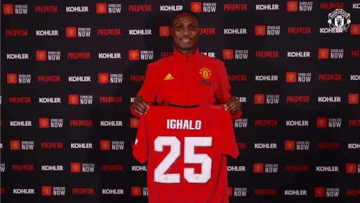 Image result for ighalo in man utd jersey