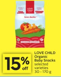 Love Child Organic Baby Snacks on sale