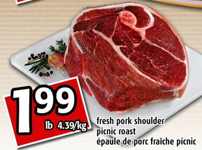 Fresh Pork Shoulder en solde cette semaine Salewhaleca
