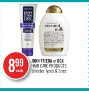 john frieda ogx hair care products