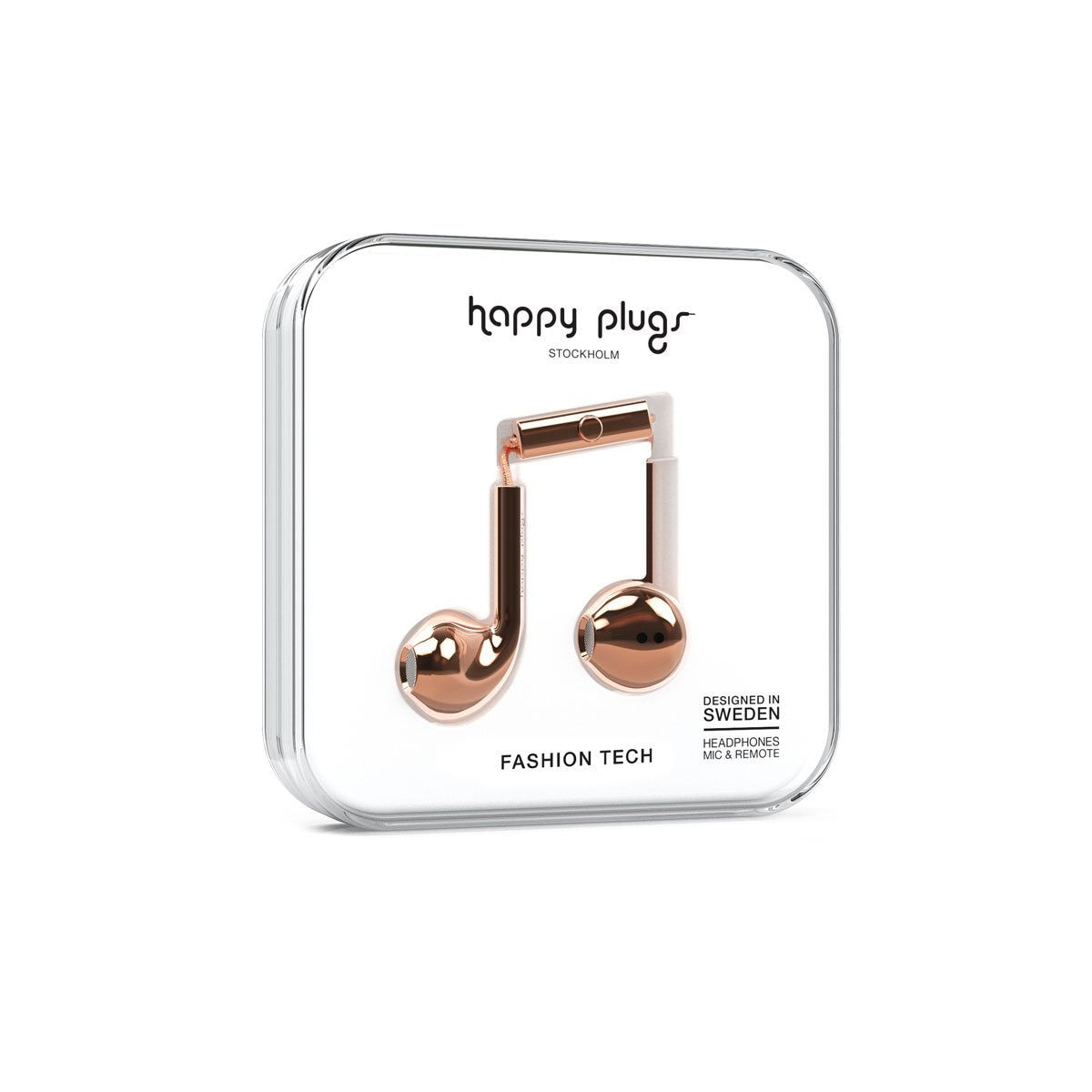 Audifonos C Microfono Earbud Deluxe Gold Rose Happy Plugs